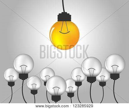 Light bulb idea - vector illustration. Idea of light bulb creative design. Abstract light bulb symbol. Concept of business and industrial idea.