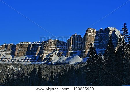 Breccia Peak and Cliffs in the Absaroka Mountains between Dubois and Jackson Hole Wyoming USA