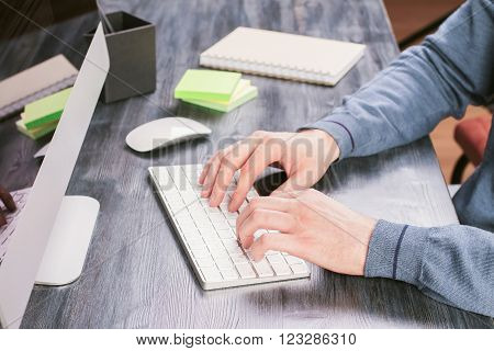Typing Hands Side