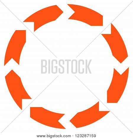 Circulation vector icon. Style is flat icon symbol, orange color, white background.