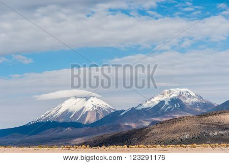 Volcano. Nature of Altiplano, Bolivia, South America.