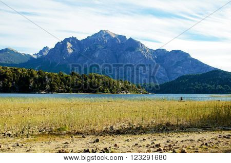 Scenic view of a mountain at the Moreno Lake in the Llao Llao Park