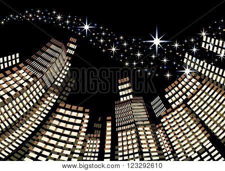 Abstract  city at night