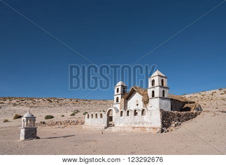 Church in sand Altiplano Bolivia South America