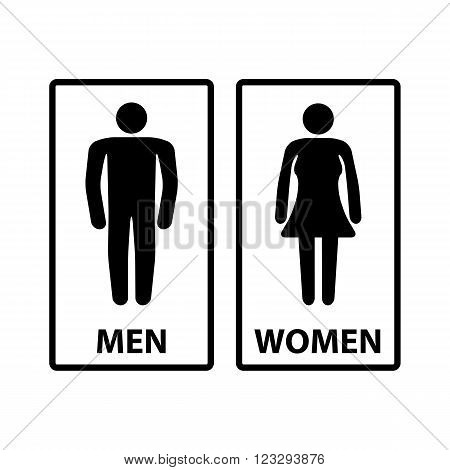 Icon restroom. restroom sign, white background, toilet, wc, vector