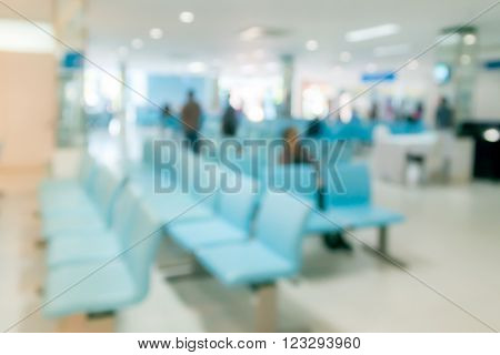 Blurred abstract background in hospital waiting room