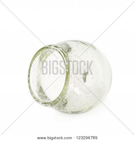 Glass mate calabash vessel isolated over the white background