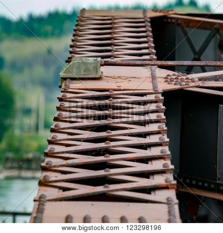 Crossbars and Other Details on an Iron Bridge