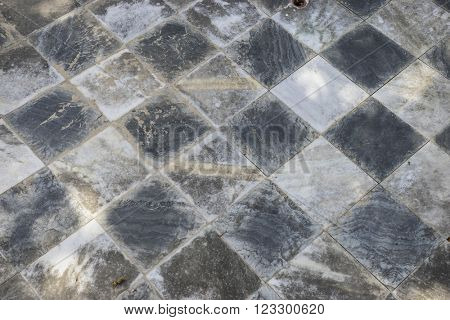 marble, gamero textured floor or chess, nineteenth century, grungy texture and old