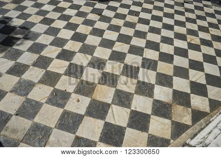 gamero textured floor or chess, nineteenth century, grungy texture and old