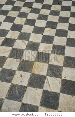 square, gamero textured floor or chess, nineteenth century, grungy texture and old