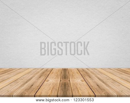 Wooden tabletop at tropical paper texture wall,Template mock up for display of product,Business presentation.