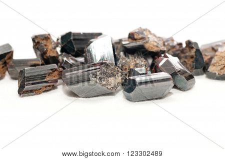 rutile black metallic ore sample for making jewelry