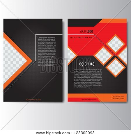 Creative orange and red annual report Leaflet Brochure Flyer template A4 size design, book cover layout design. Abstract and unique creative presentation template.