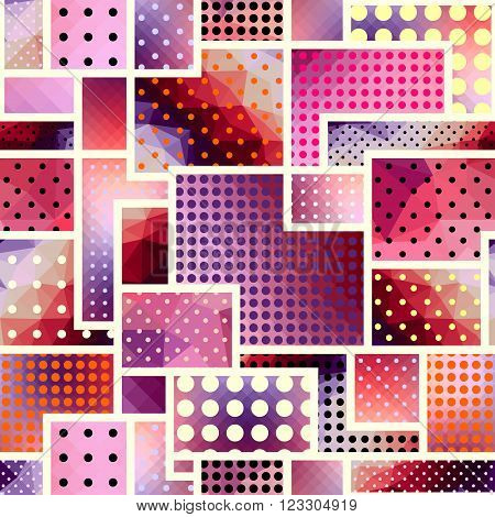 Seamless background pattern. Abstract geometric pattern in a patchwork style.