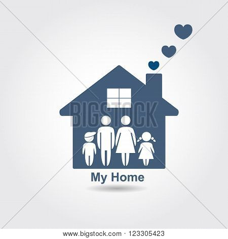 Family graphic design vector illustration, home concept