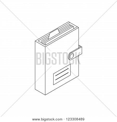 Personal organizer icon in isometric 3d style isolated on white background