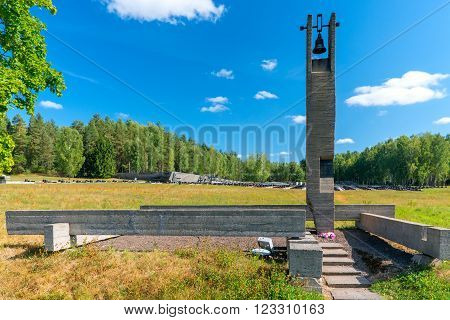 Khatyn, Belarus - 20 August 2015: memorial complex Khatyn, cemetery annihilated villages