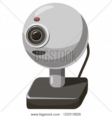 Webcam icon in cartoon style isolated on white background