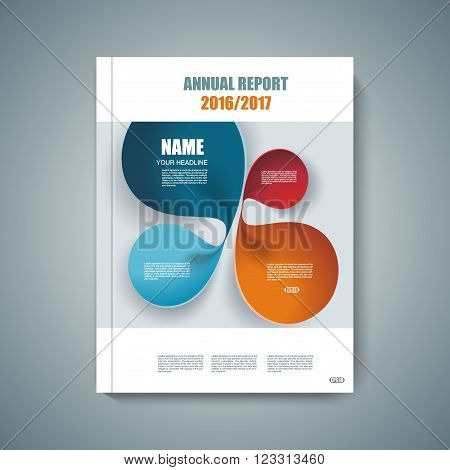 Vector design of Magazine Cover Annual Report Flyer Poster