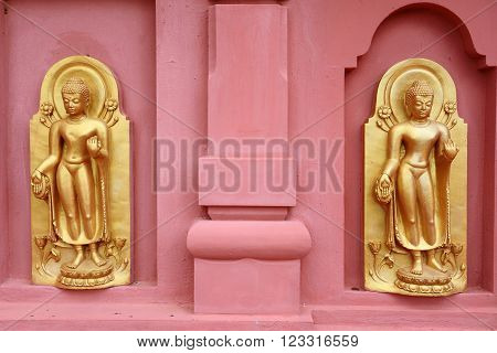 Buddha statue in the wall Thailand at Asia