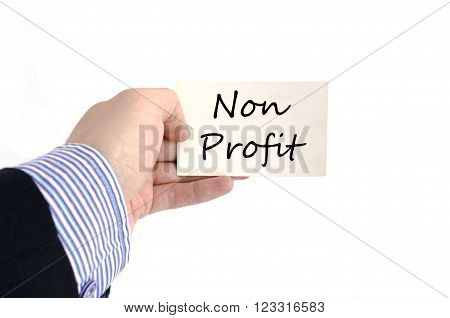 Business man hand and card isolated on white