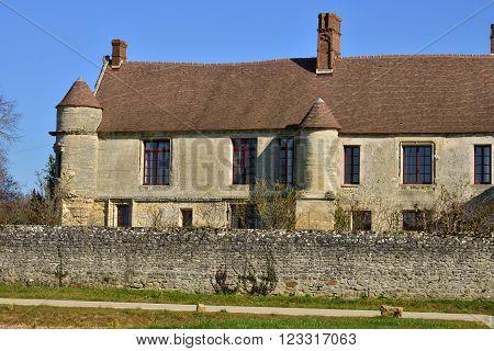 Omerville France - february 29 2016 : the renaissance manor Mornay Villarceaux