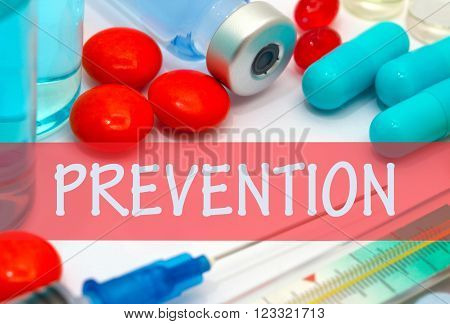 prevention. Vaccine to treat disease. Syringe and vaccine with drugs.