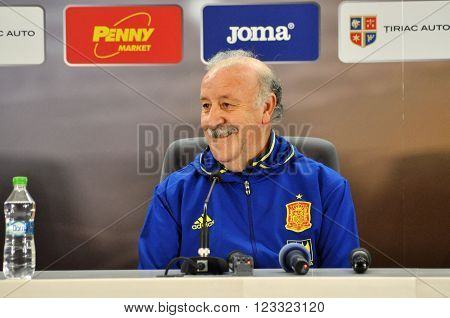 Vicente Del Bosque During A Press Conference Berfore Romania - Spain Friendly Football Match