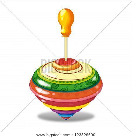 Whirligig a set of children's toys. Raster illustration