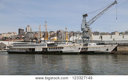 Two Ferries Waiting in Shipyard to Repare