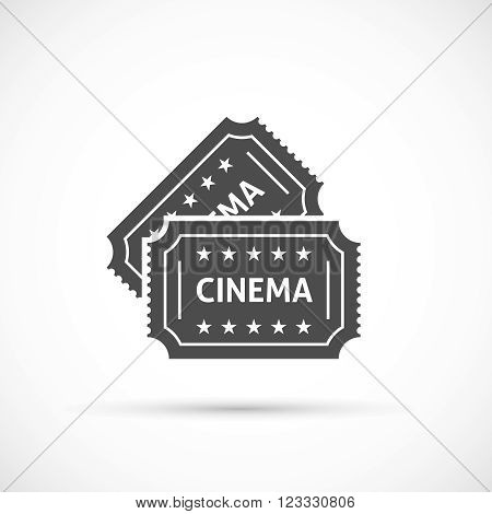 Cinema ticket icon. Retro cinema tickets icon