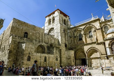 September 23 2012. Jerusalem. The area in front of the Church of the Holy sepulchre.Jerusalem.Israel.