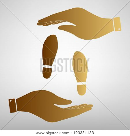 Imprint soles shoes sign. Flat style icon vector illustration.