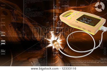 Blase Handabdruckscanner