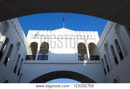 Manama, Bahrain -  December 9, 2006: The Bab Al Bahrain palace the city center.
