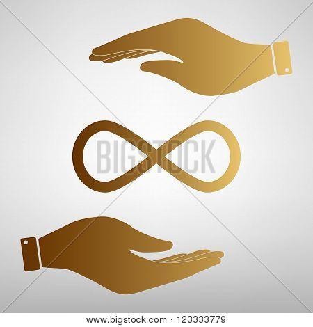 Limitless symbol. Flat style icon vector illustration.