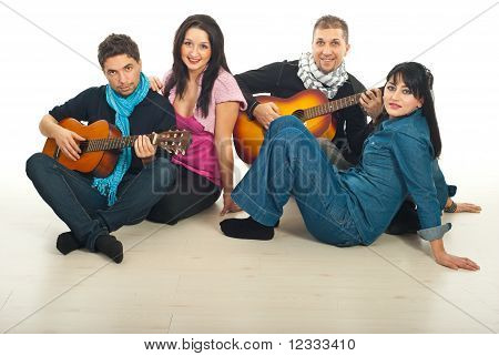 Couples Playing Guitars