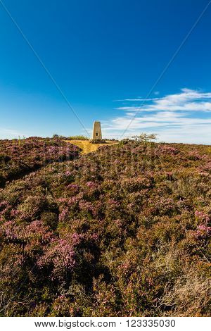 Triangulation point Parys Mountain Amlwch Anglesey Wales United Kingdom