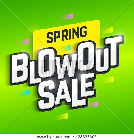 Spring Blowout Sale banner. Special offer, big sale, clearance. Vector.