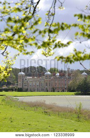 Blickling Hall a Jacobean house at Blickling near Aylsham in Norfolk UK.