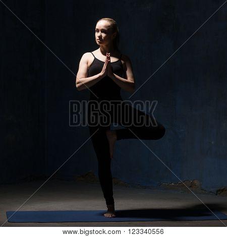 Beautiful Yoga Woman Doing Tree Pose