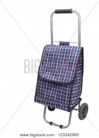 Shopping trolley bag, isolated on a white background