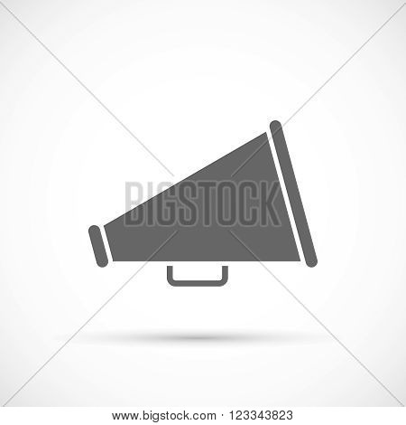 Megaphone icon. Loudspeaker icon. Loudspeaker isolated symbol