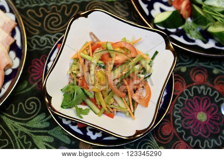 Salad Of Veal With Vegetables
