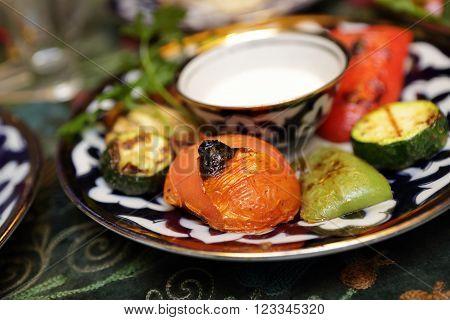 Various Grilled Vegetables