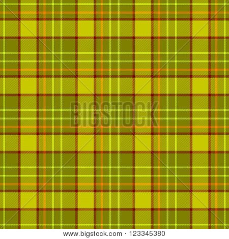 green khaki brown orange check diamond tartan plaid fabric seamless pattern texture background
