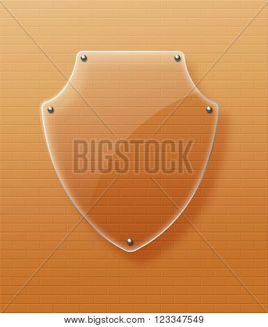 Glass framework Glass shield Vector illustration. Eps10