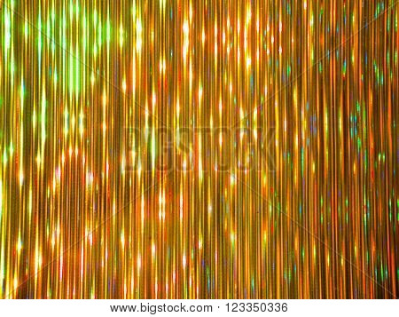 Golden striped luminous colorful shining metallic background