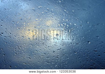Background Of Droplets And Sky